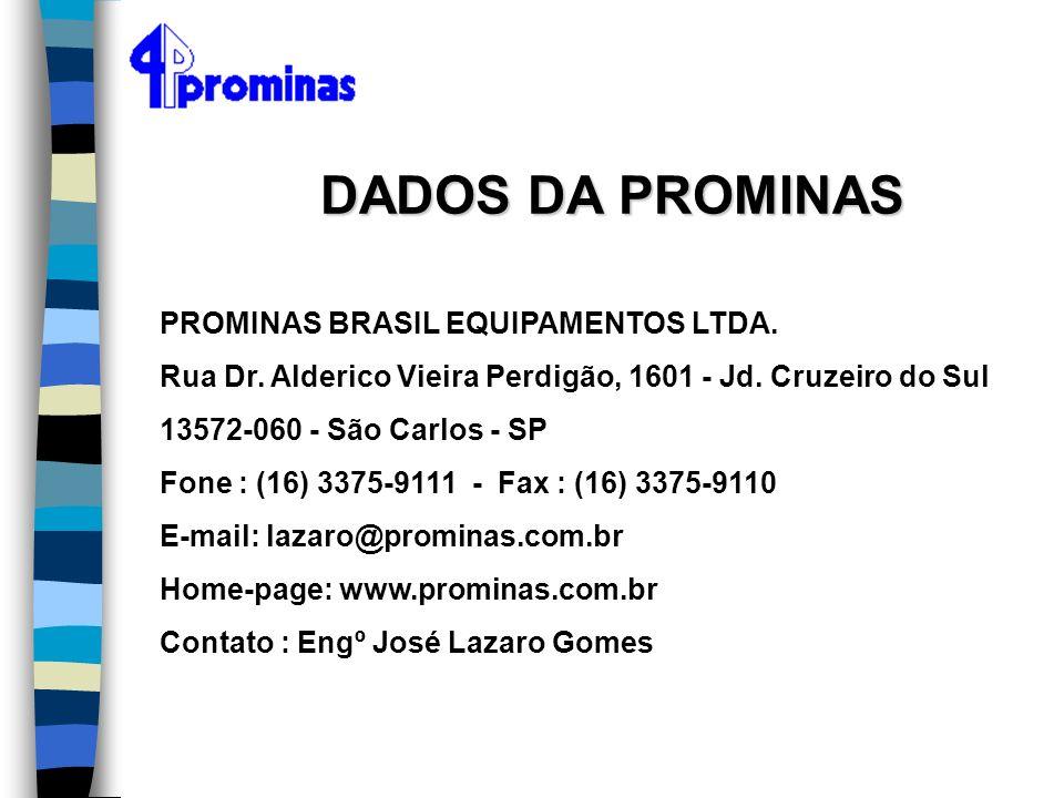 DADOS DA PROMINAS PROMINAS BRASIL EQUIPAMENTOS LTDA.