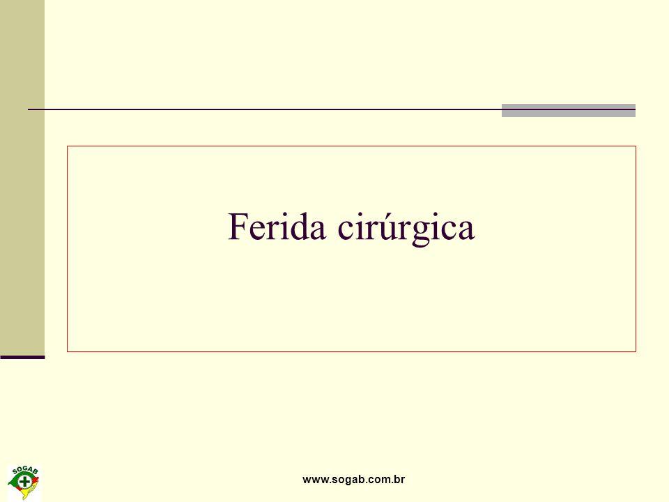 Ferida cirúrgica www.sogab.com.br