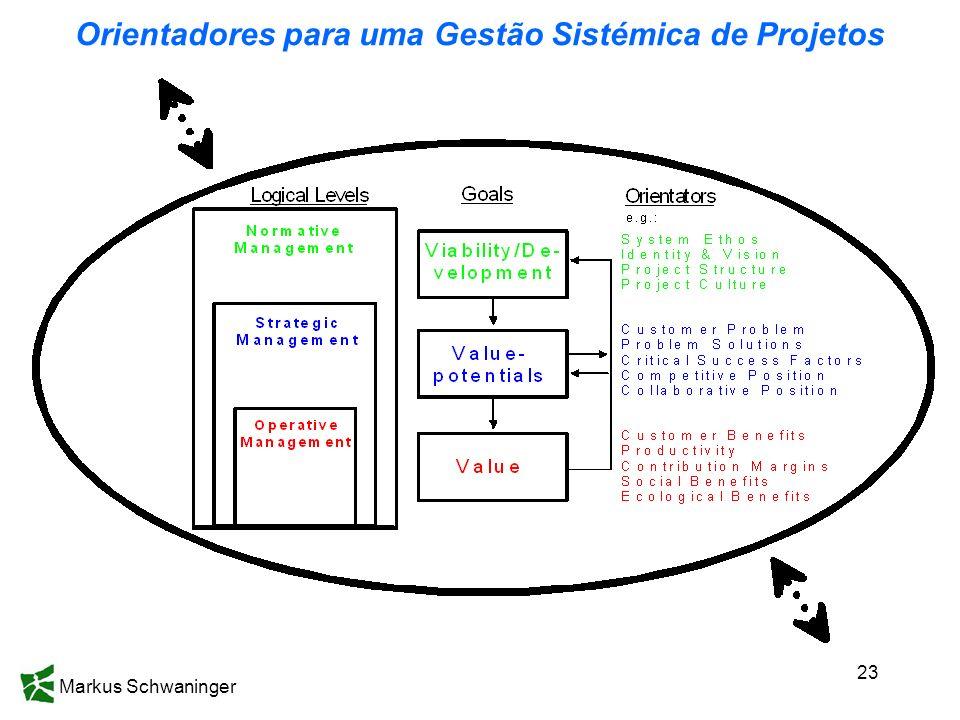 Orientadores para uma Gestão Sistémica de Projetos