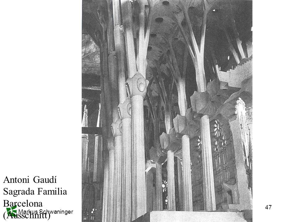 Antoni Gaudí Sagrada Familia Barcelona (Ausschnitt)