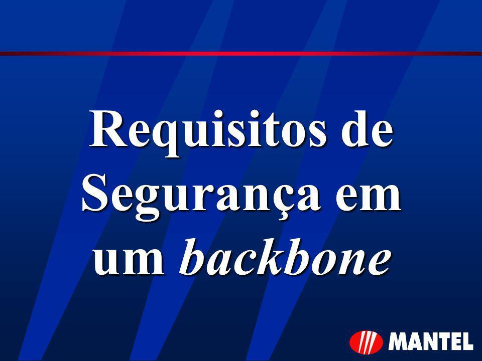 Requisitos de Segurança em um backbone