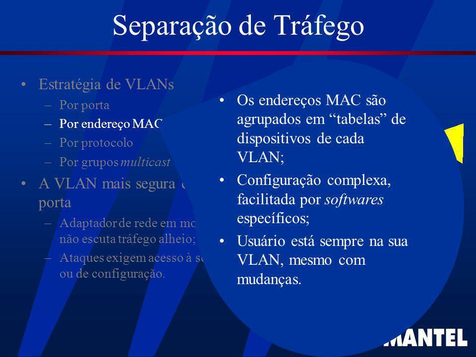 Separação de Tráfego Estratégia de VLANs