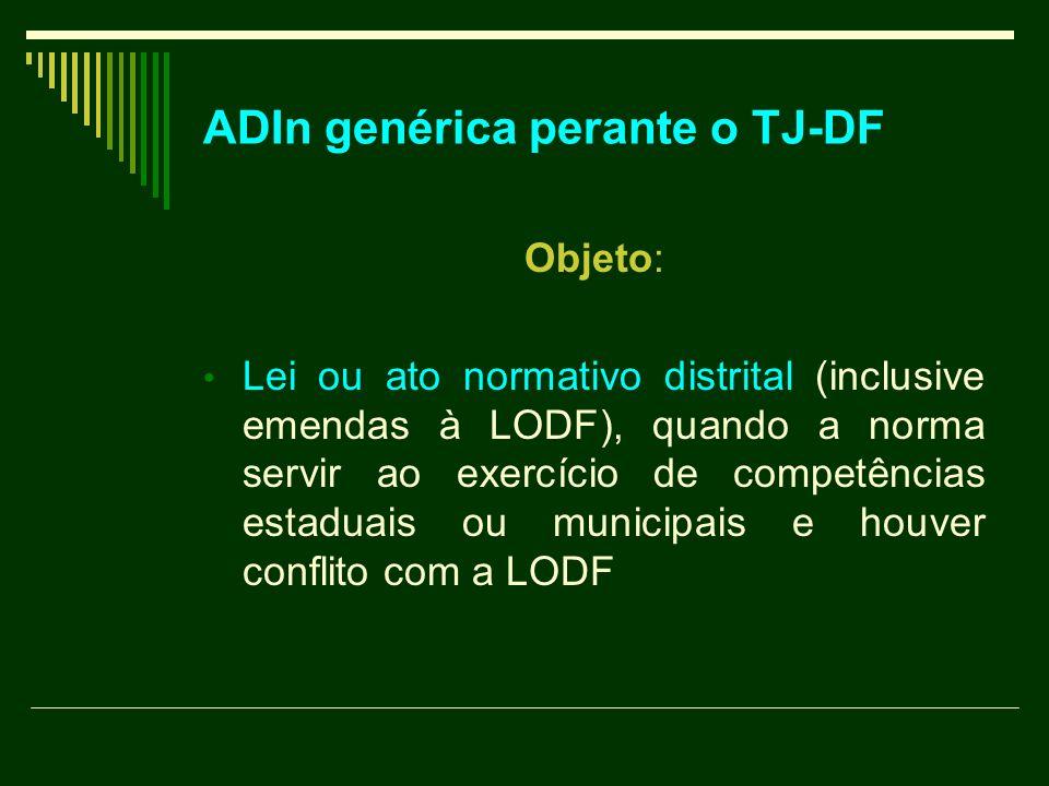 ADIn genérica perante o TJ-DF