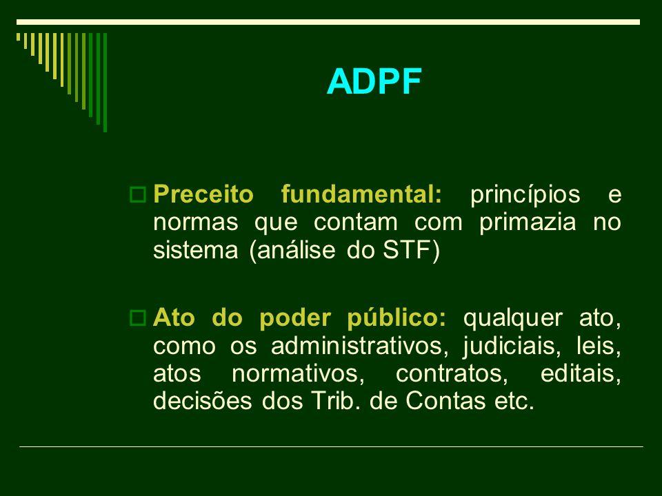 ADPF Preceito fundamental: princípios e normas que contam com primazia no sistema (análise do STF)