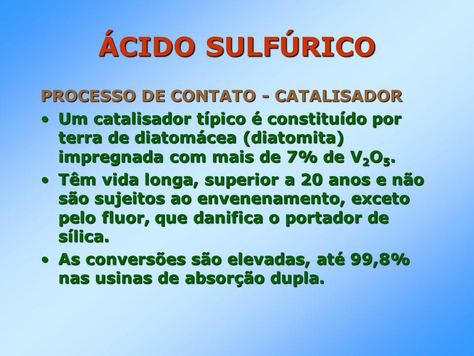 ÁCIDO SULFÚRICO PROCESSO DE CONTATO - CATALISADOR