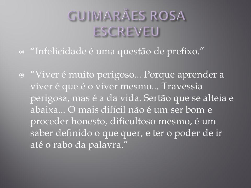 GUIMARÃES ROSA ESCREVEU