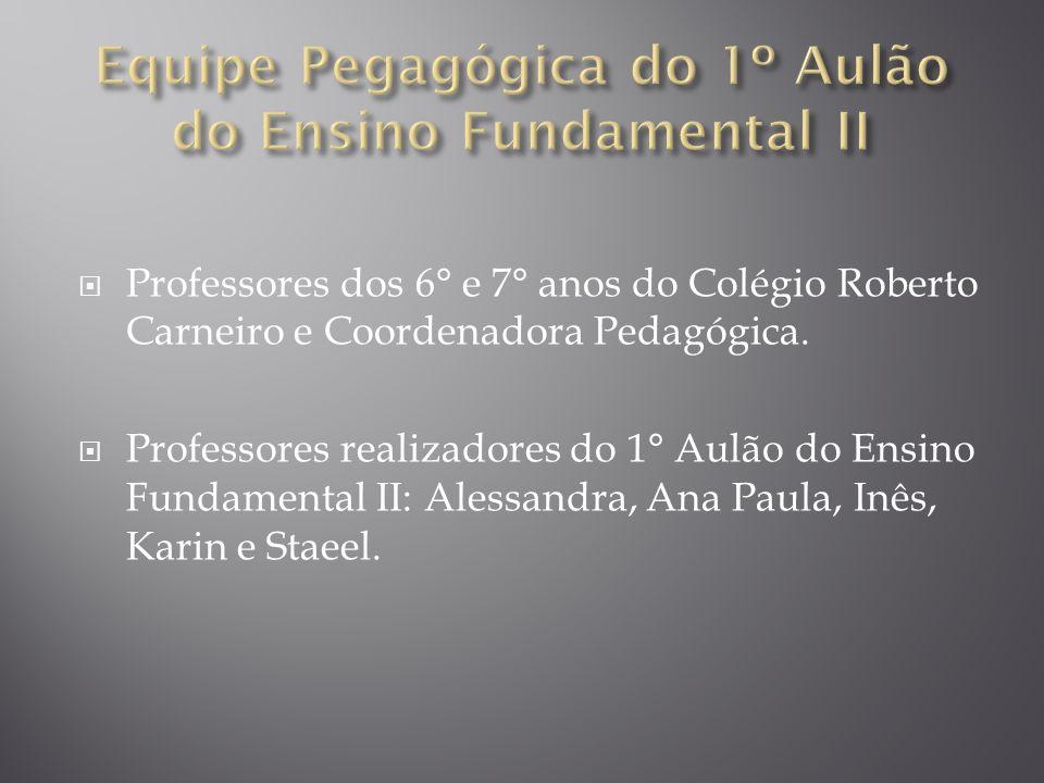 Equipe Pegagógica do 1º Aulão do Ensino Fundamental II