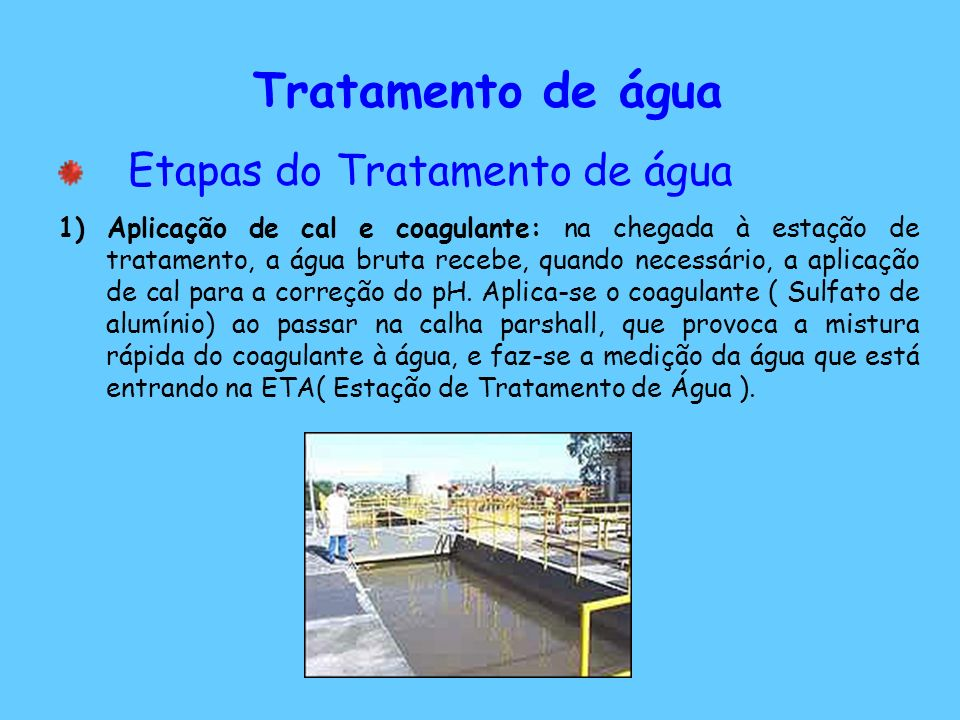 Tratamento de água Etapas do Tratamento de água