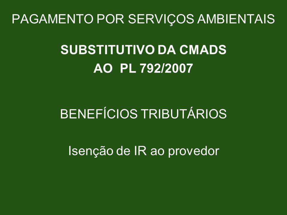 PAGAMENTO POR SERVIÇOS AMBIENTAIS