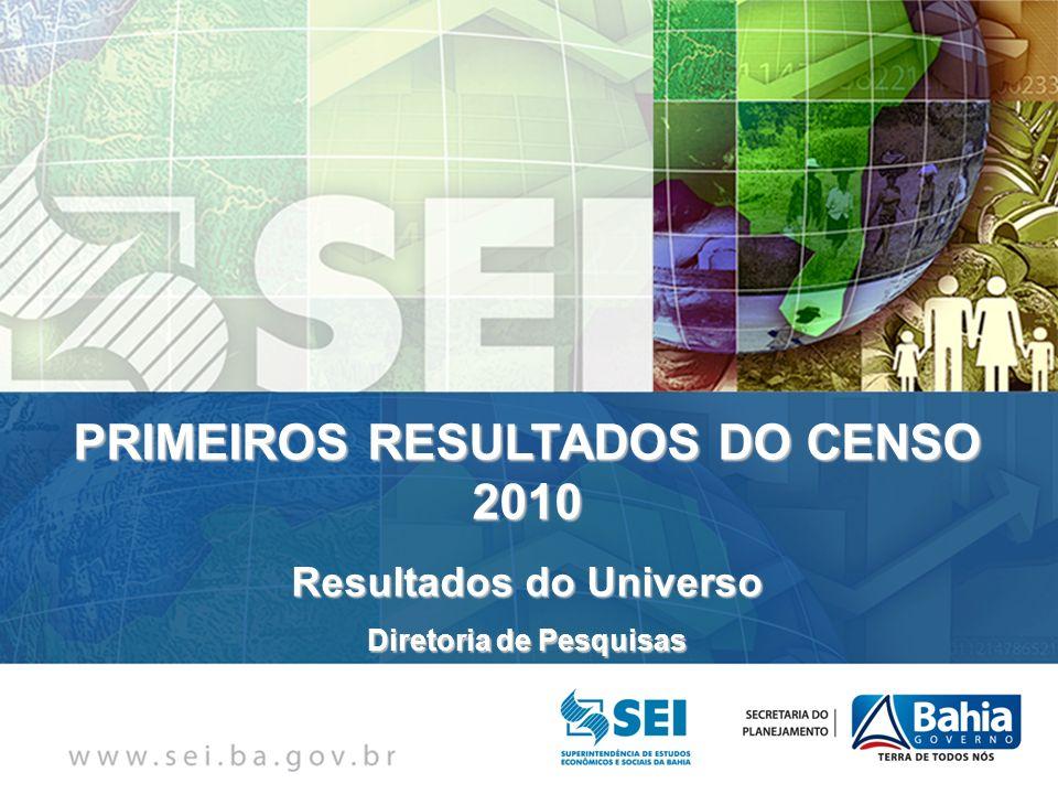 PRIMEIROS RESULTADOS DO CENSO 2010