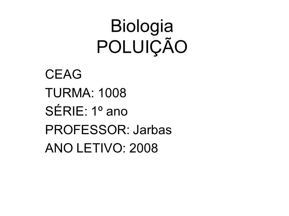 CEAG TURMA: 1008 SÉRIE: 1º ano PROFESSOR: Jarbas ANO LETIVO: 2008