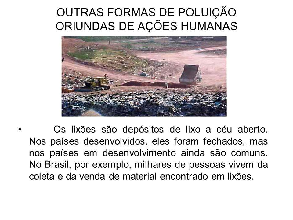 OUTRAS FORMAS DE POLUIÇÃO ORIUNDAS DE AÇÕES HUMANAS