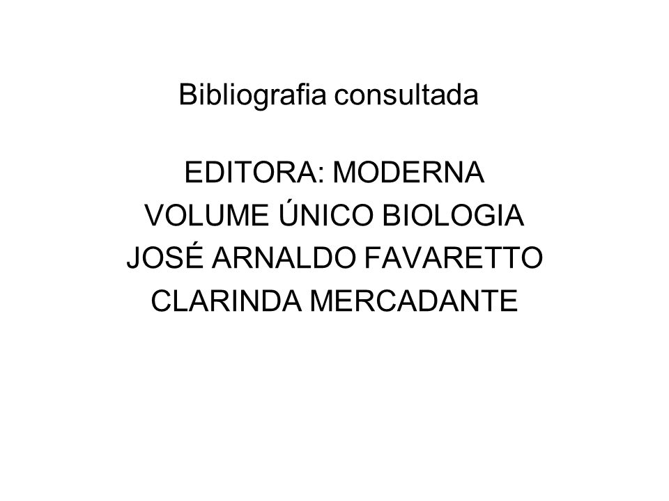Bibliografia consultada
