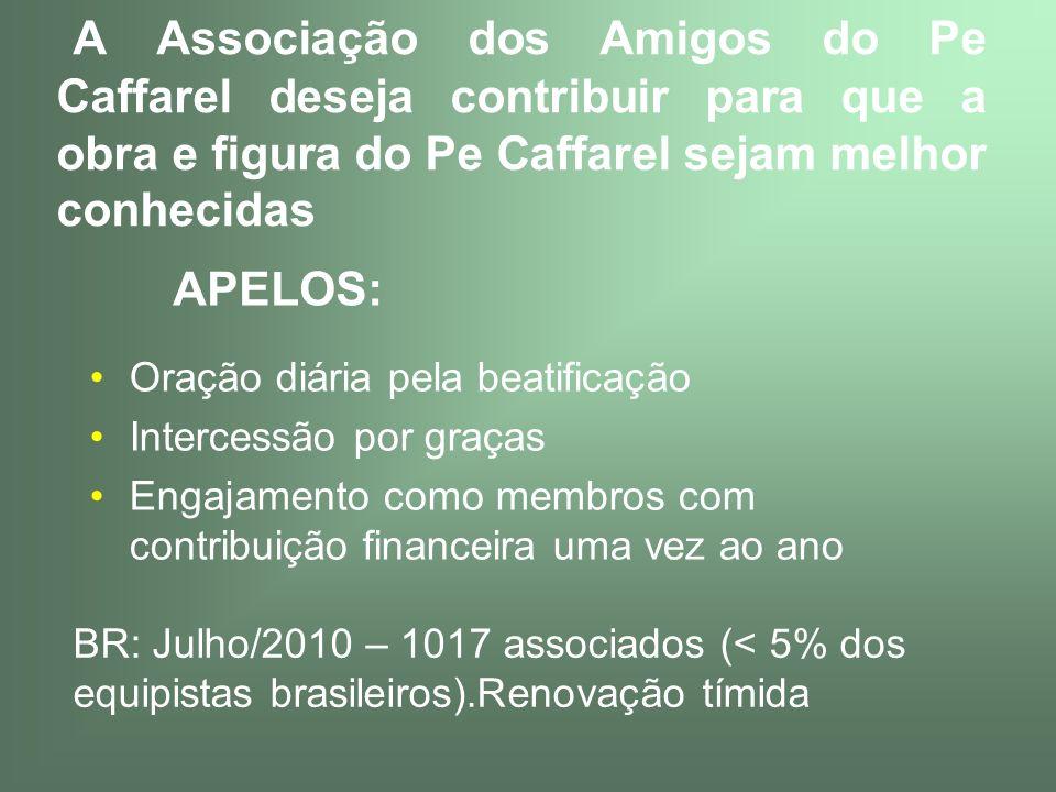 A Associação dos Amigos do Pe Caffarel deseja contribuir para que a obra e figura do Pe Caffarel sejam melhor conhecidas