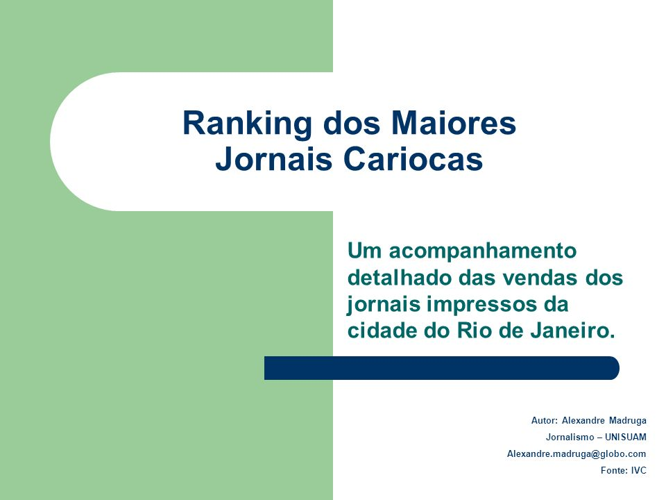 Ranking dos Maiores Jornais Cariocas