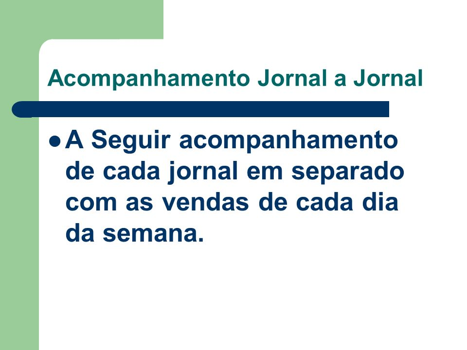 Acompanhamento Jornal a Jornal