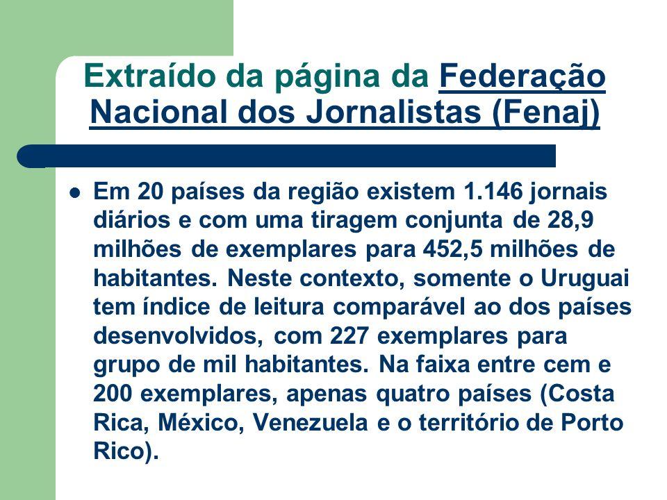 Extraído da página da Federação Nacional dos Jornalistas (Fenaj)