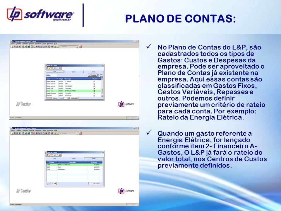 PLANO DE CONTAS: