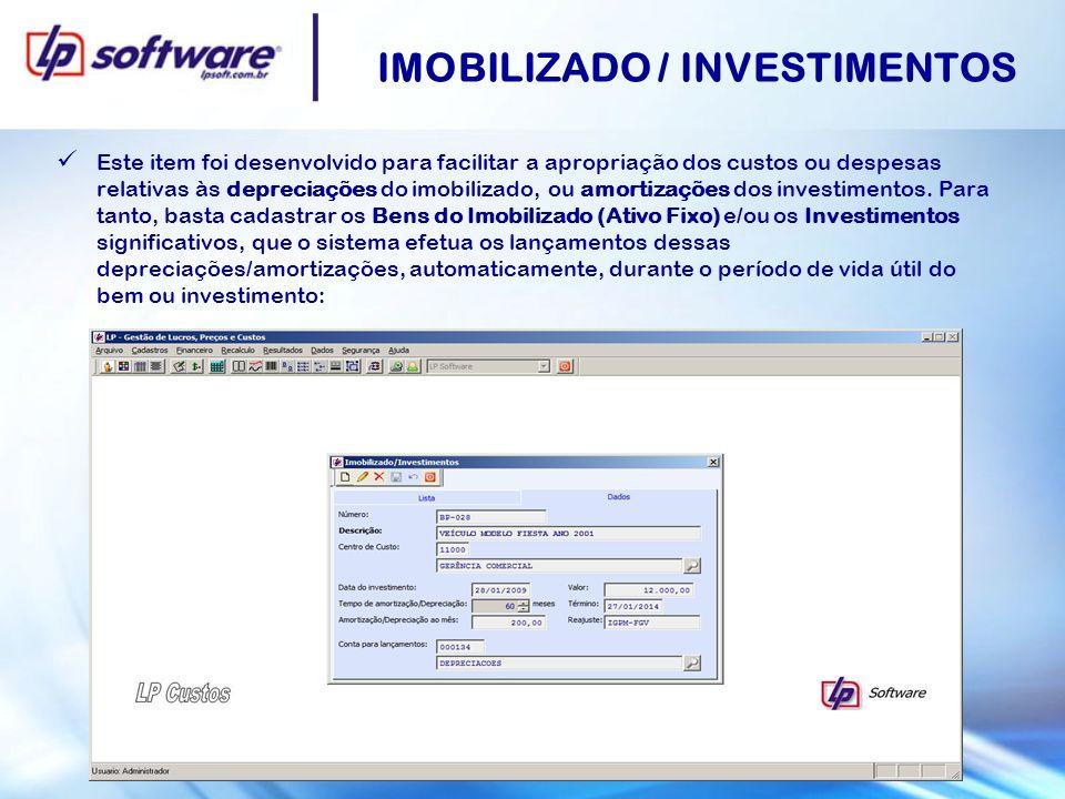 IMOBILIZADO / INVESTIMENTOS
