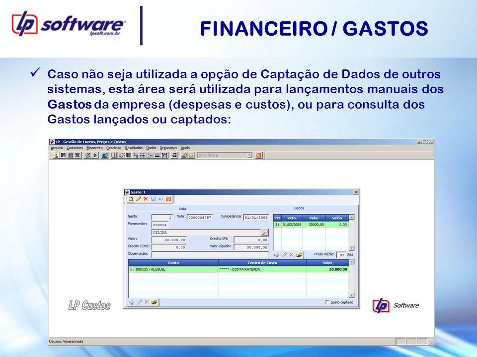 FINANCEIRO / GASTOS