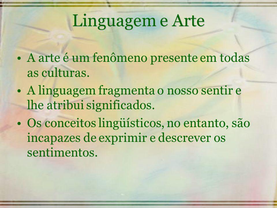 Linguagem e Arte A arte é um fenômeno presente em todas as culturas.