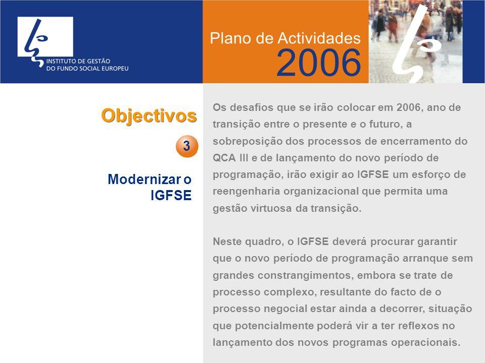 Objectivos 3 Modernizar o IGFSE