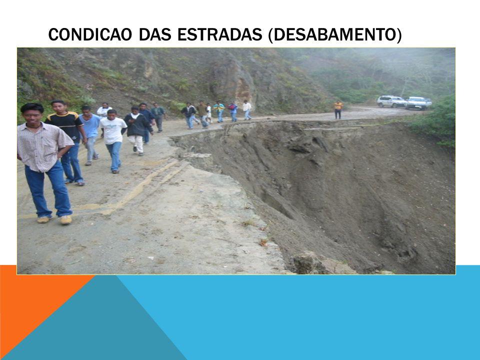 CONDICAO DAS ESTRADAS (DESABAMENTO)