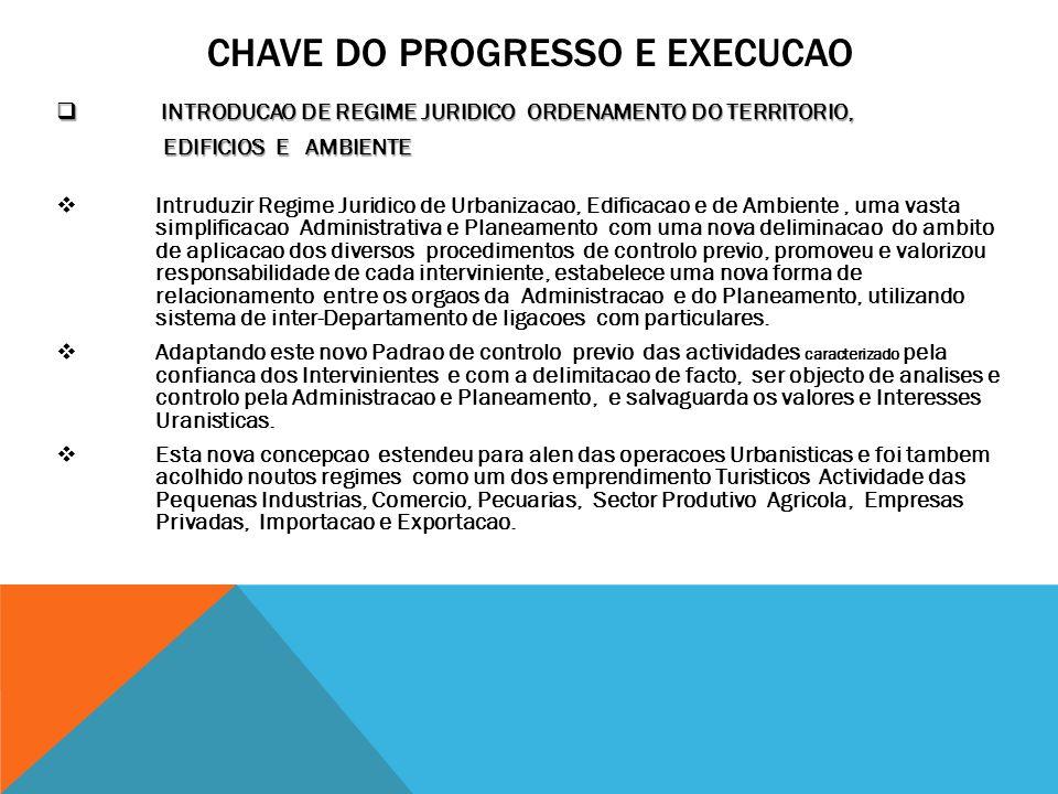 CHAVE DO PROGRESSO E EXECUCAO