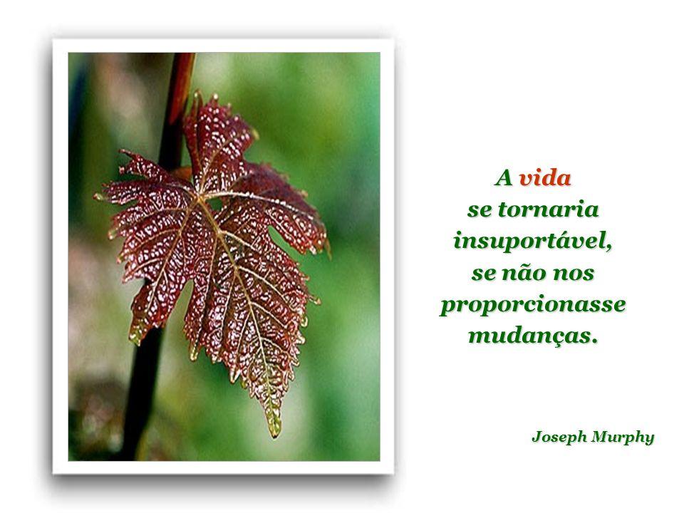 se tornaria insuportável, se não nos proporcionasse mudanças.