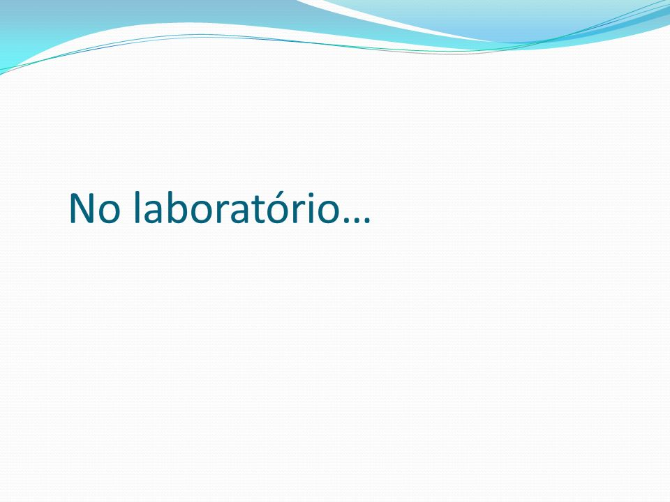 No laboratório…