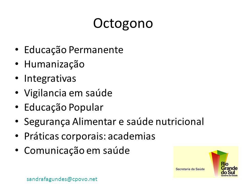 Octogono Educação Permanente Humanização Integrativas