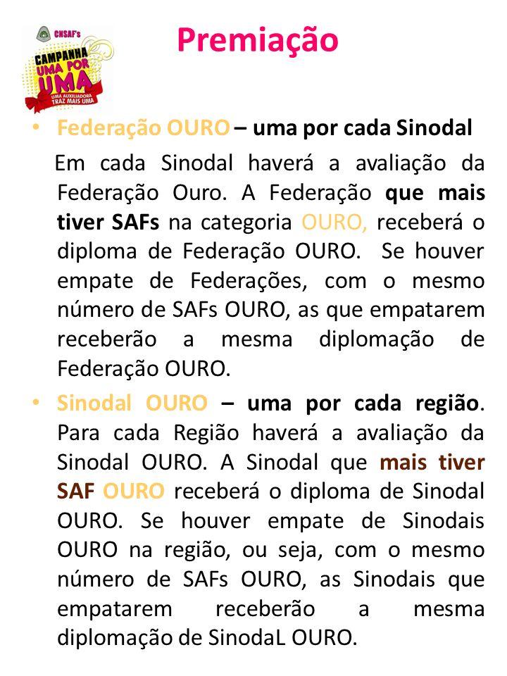 Premiação Federação OURO – uma por cada Sinodal