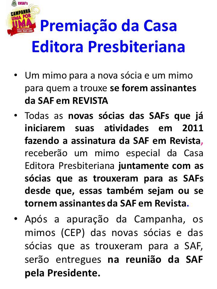 Premiação da Casa Editora Presbiteriana