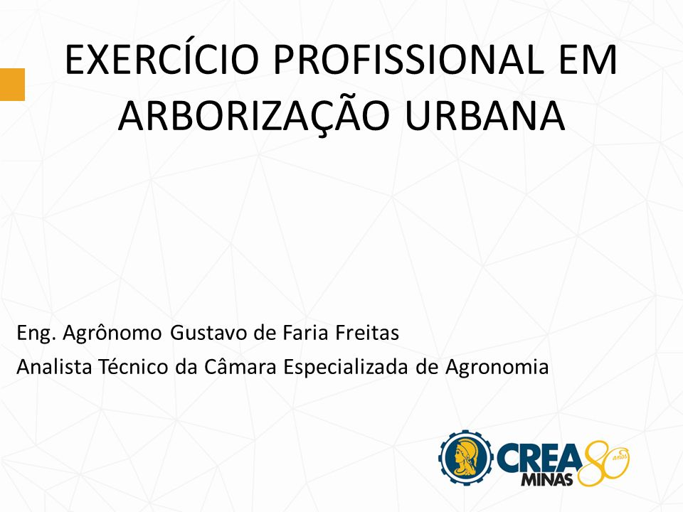 EXERCÍCIO PROFISSIONAL EM ARBORIZAÇÃO URBANA