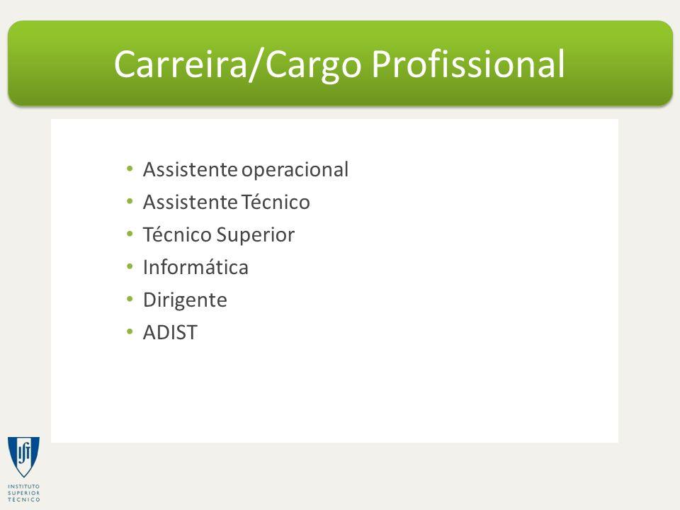 Carreira/Cargo Profissional