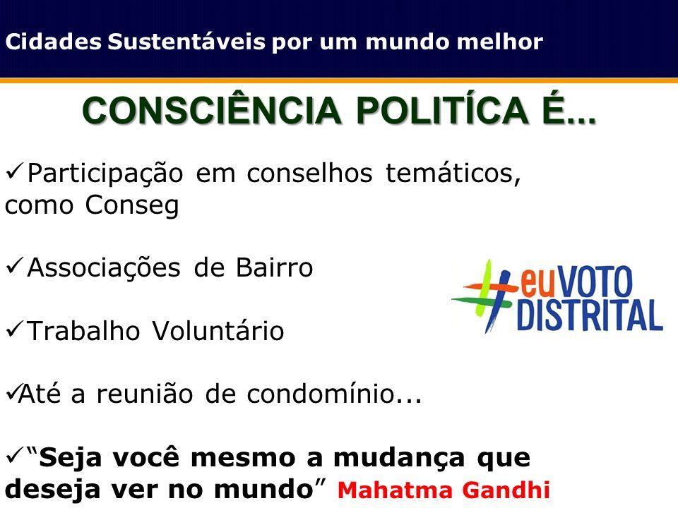 CONSCIÊNCIA POLITÍCA É...