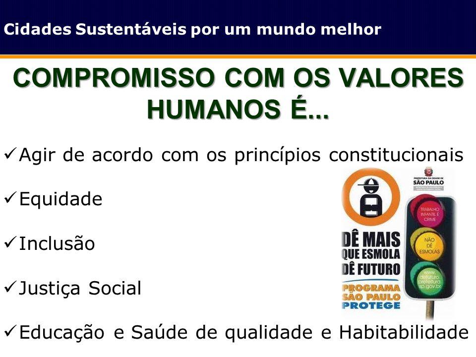COMPROMISSO COM OS VALORES HUMANOS É...