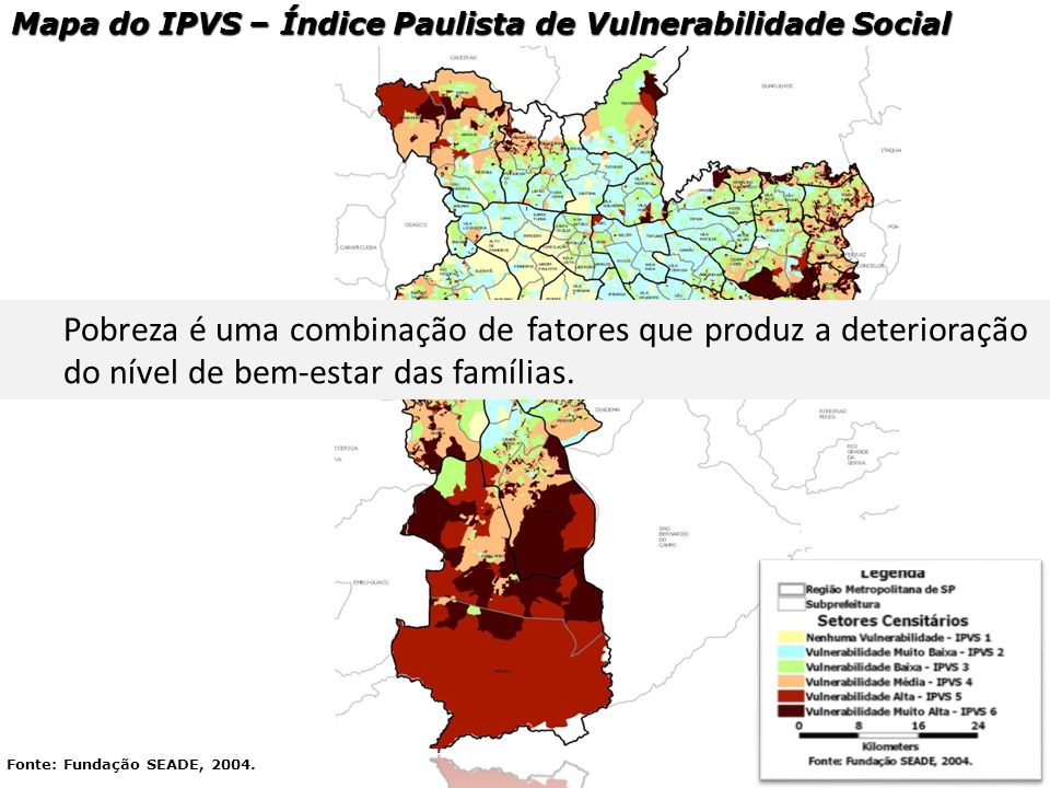 Mapa do IPVS – Índice Paulista de Vulnerabilidade Social