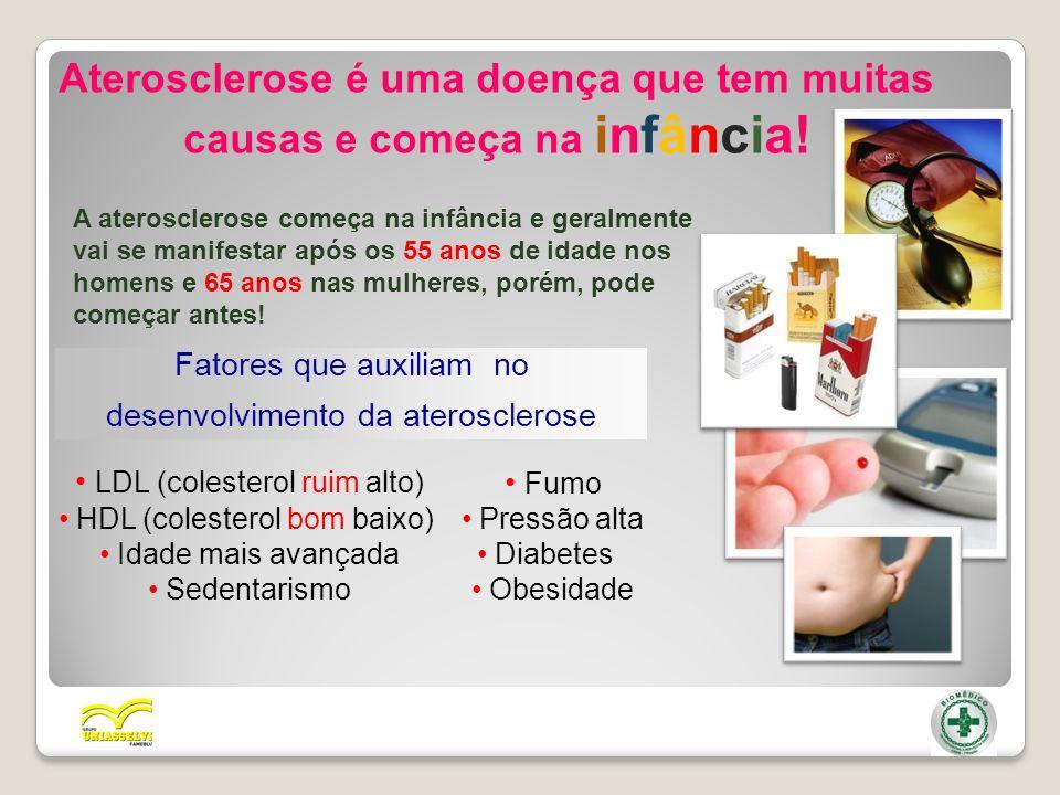 Aterosclerose é uma doença que tem muitas causas e começa na infância!