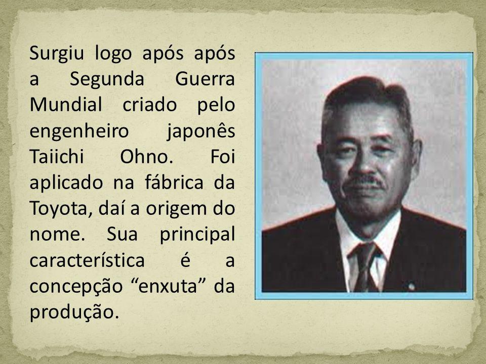 Surgiu logo após após a Segunda Guerra Mundial criado pelo engenheiro japonês Taiichi Ohno.