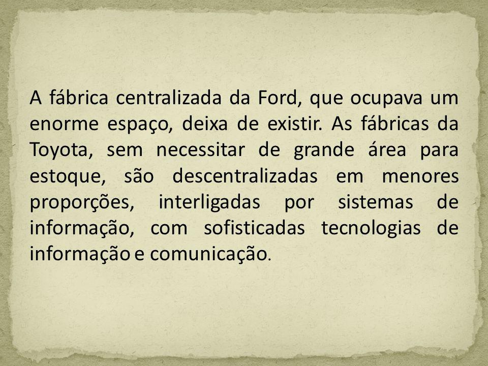 A fábrica centralizada da Ford, que ocupava um enorme espaço, deixa de existir.