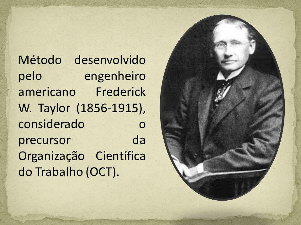 Método desenvolvido pelo engenheiro americano Frederick W