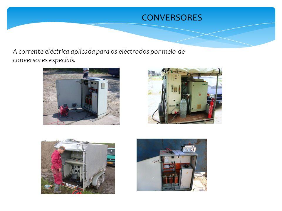 CONVERSORES A corrente eléctrica aplicada para os eléctrodos por meio de conversores especiais.