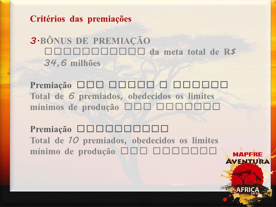 Campanhas Critérios das premiações 3.BÔNUS DE PREMIAÇÃO