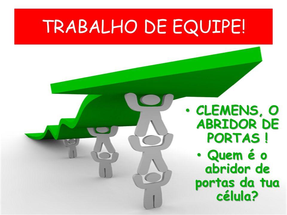 TRABALHO DE EQUIPE! CLEMENS, O ABRIDOR DE PORTAS !