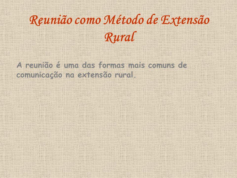 Reunião como Método de Extensão Rural