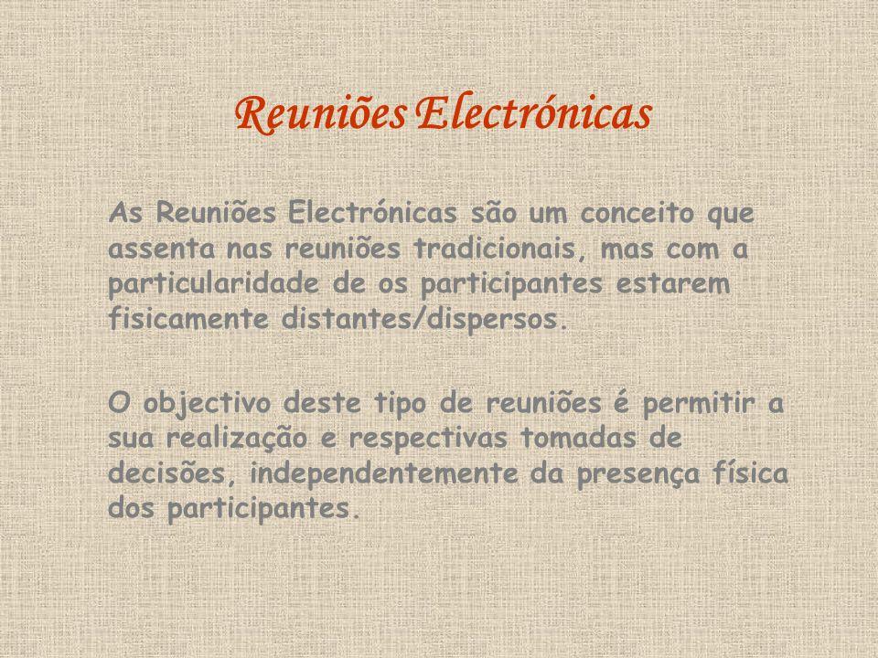 Reuniões Electrónicas
