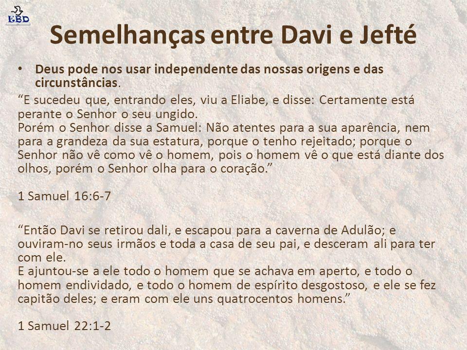 Semelhanças entre Davi e Jefté