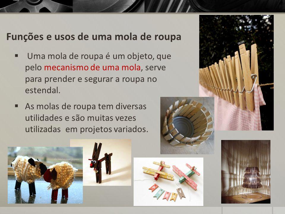 Funções e usos de uma mola de roupa