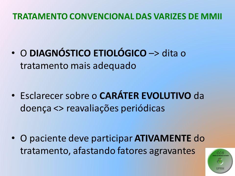 TRATAMENTO CONVENCIONAL DAS VARIZES DE MMII
